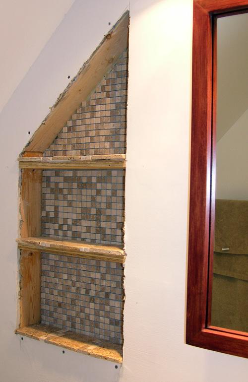 Built-in Bathroom Shelves | Rustixs.com