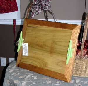 Tray made of wood scraps