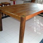 rustic oak farm table