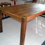 rustic oak farm table